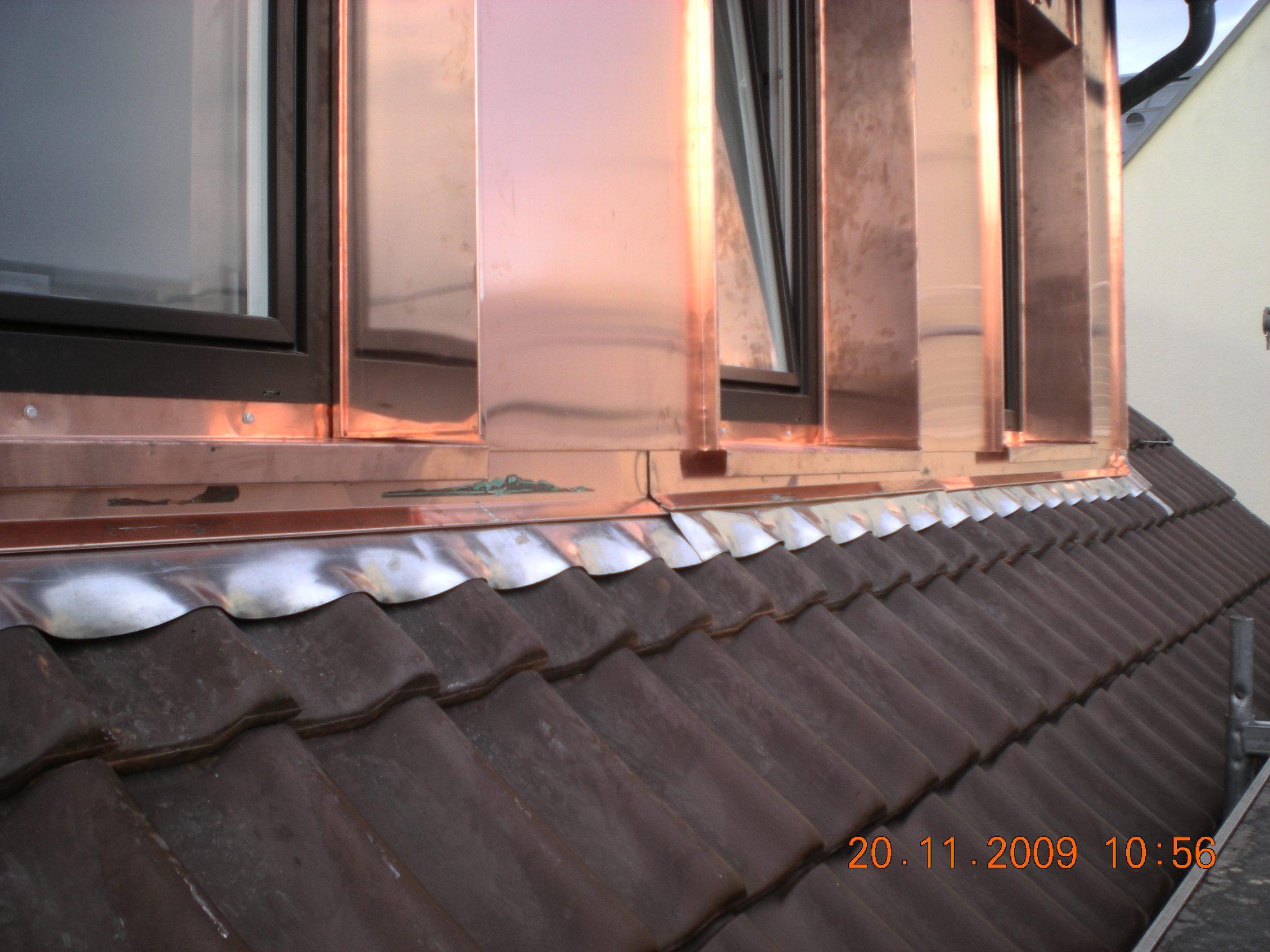 Dachgaub -Verkleidung-Kupfer-Spenglerarbeiten