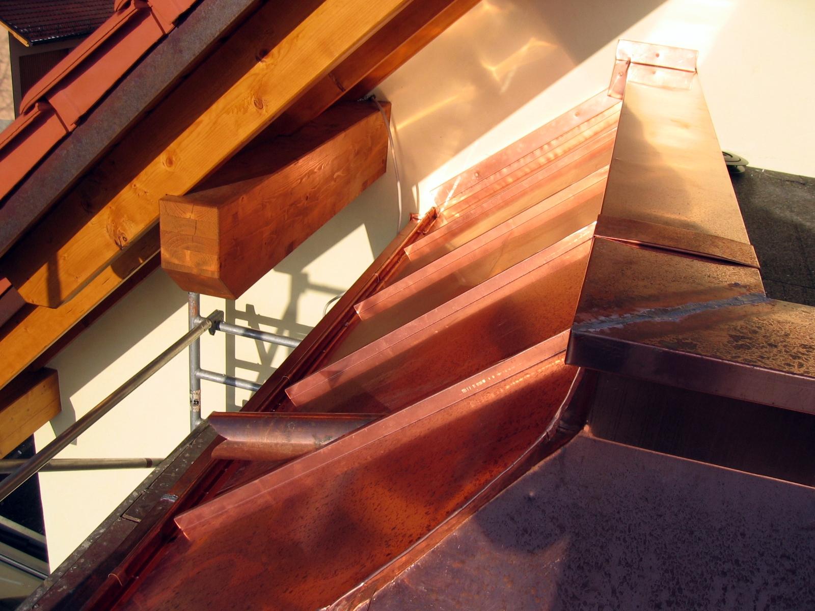 Stehfalzdach-Kupfer-Spenglerarbeiten Rodgau
